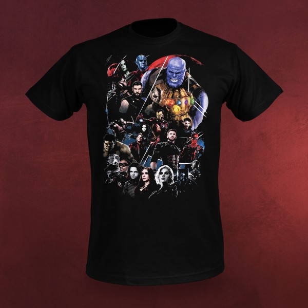 Avengers - Infinity Group T-Shirt schwarz