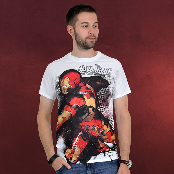 Avengers- Age of Ultron - Iron Man T-Shirt weiß