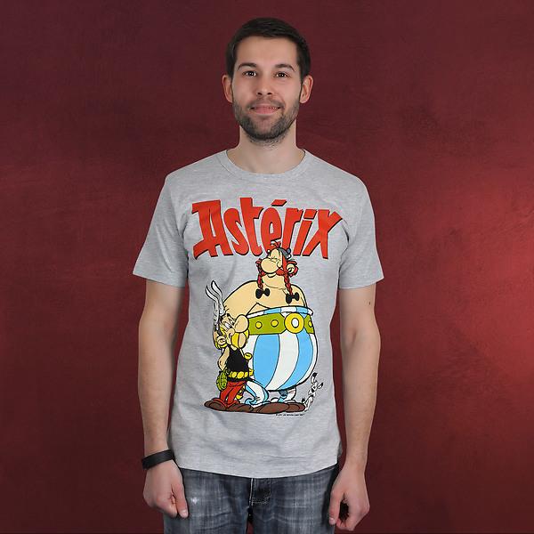 Asterix - Asterix und Obelix T-Shirt grau