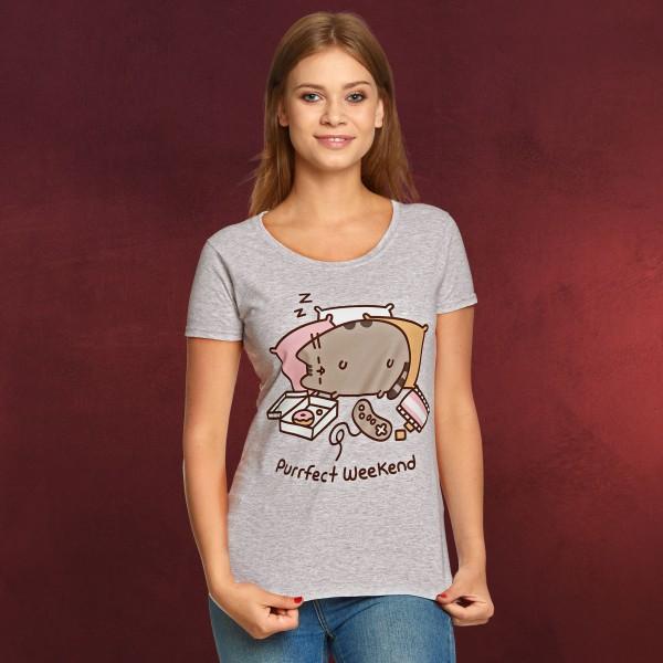 Pusheen - Purrfect Weekend Damen T-Shirt grau