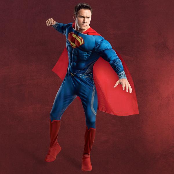 Superman - Kostüm mit Brustmuskulatur