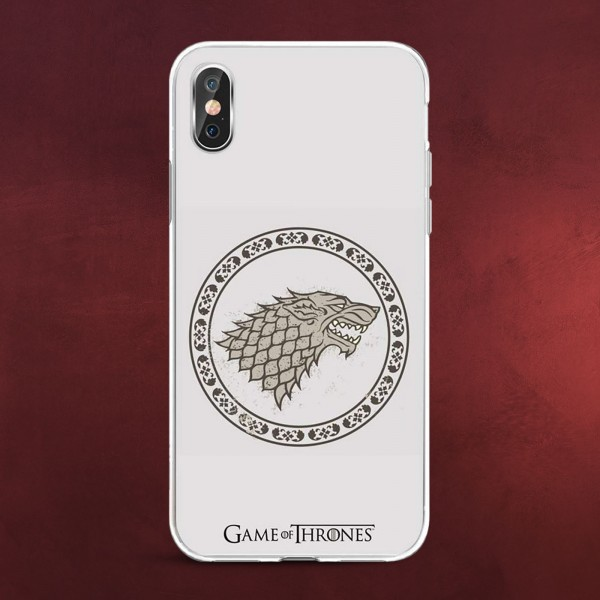 Game of Thrones - Stark Wappen iPhone X / XS Handyhülle Silikon weiß