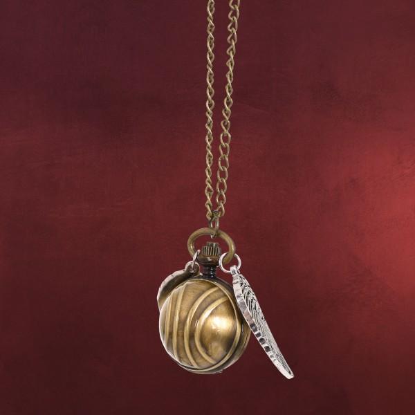 Harry Potter - Goldener Schnatz Medaillon an Kette