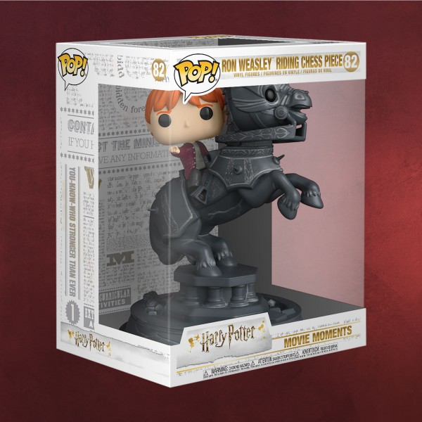Harry Potter - Ron mit Schachfigur Funko Pop Figur 21 cm