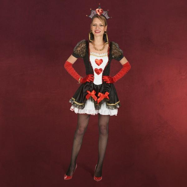 Sexy Herzdame - Kostüm