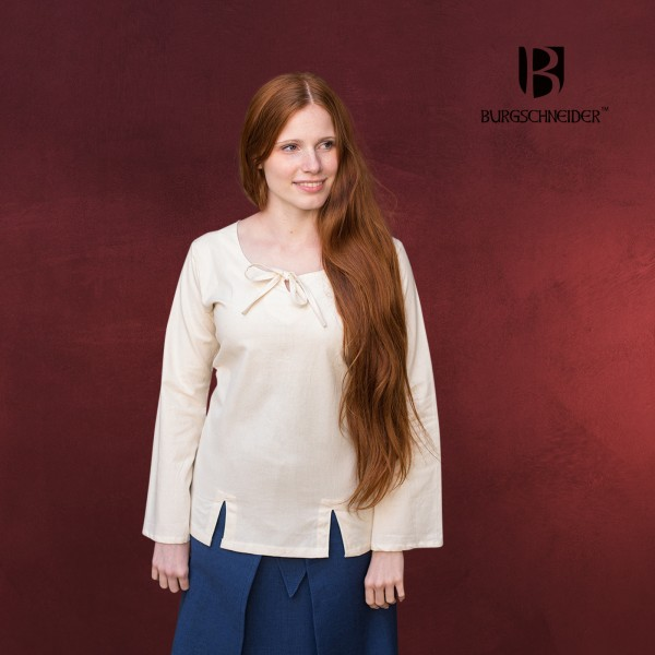 Mittelalter Bluse Lysia Damen natur