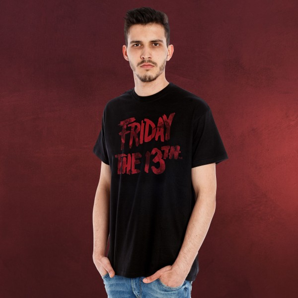 Freitag der 13. - Logo T-Shirt schwarz