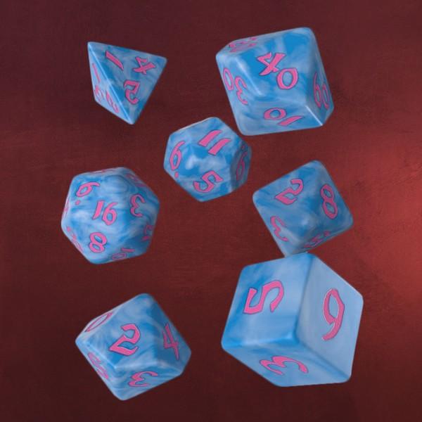 Classic RPG Würfel Set 7tlg blau-rosa
