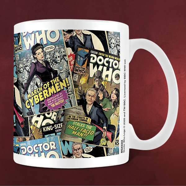 Doctor Who - Comic Montage Tasse