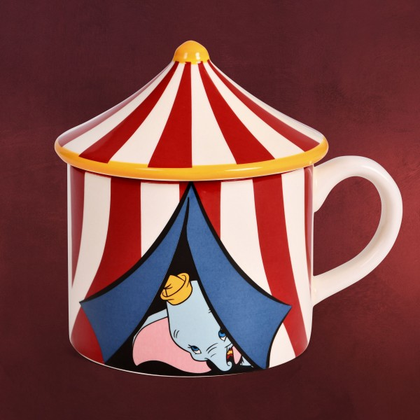 Dumbo - Zirkuszelt 3D Tasse mit Deckel