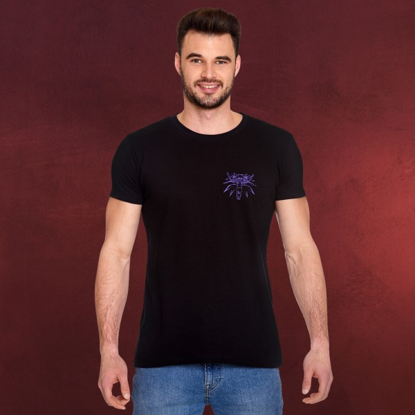 Witcher - Geralt Schlächter von Blaviken Glow in the Dark T-Shirt schwarz