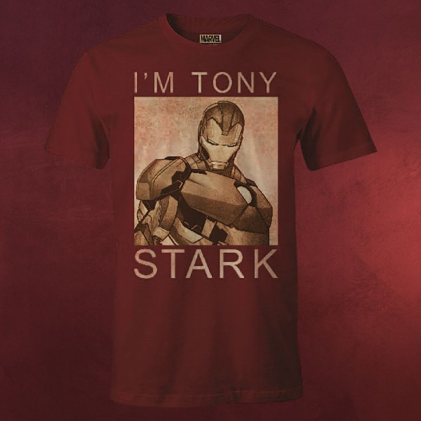 Iron Man - I'm Tony Stark T-Shirt rot