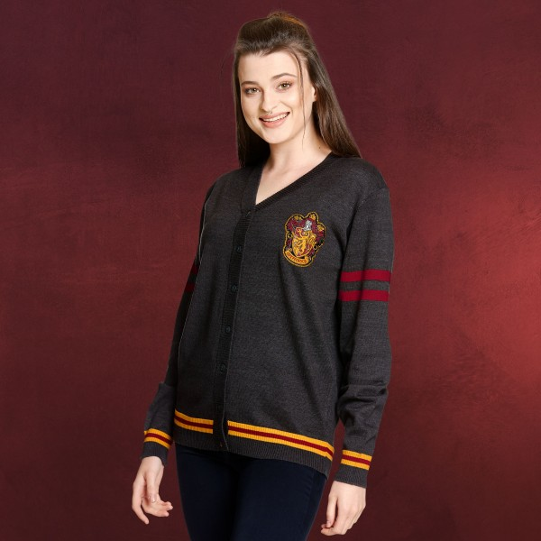 Harry Potter - Gryffindor Cardigan mit Wappen