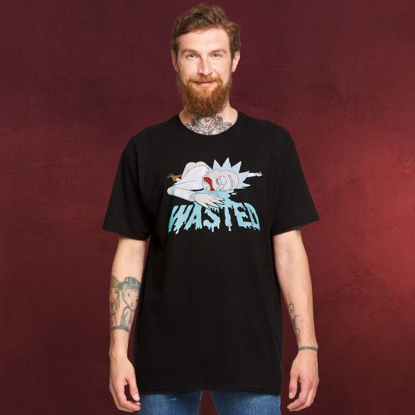 Rick and Morty - Wasted T-Shirt schwarz