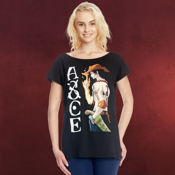 One Piece - Whitebeard Ace Girlie Shirt Loose Fit