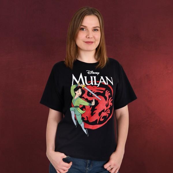 Mulan - Logo T-Shirt Damen schwarz