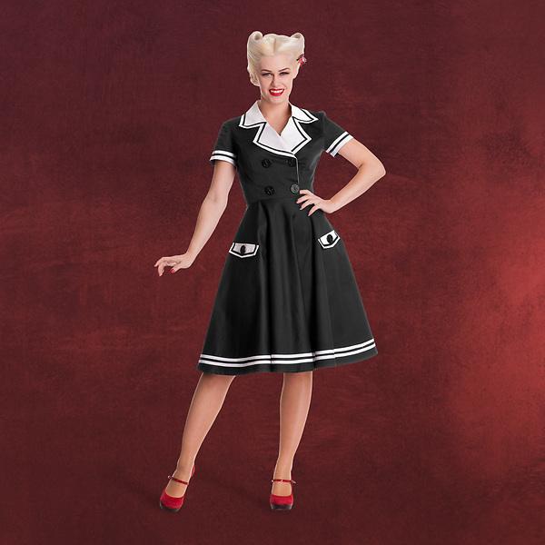 Rockabilly Seafarer Kleid schwarz