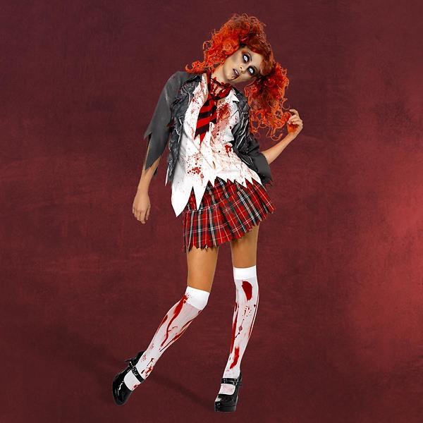 Zombie Schoolgirl Kostüm