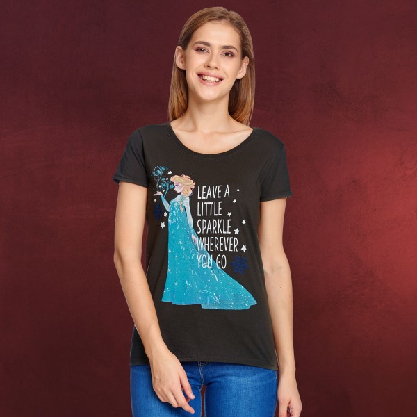 Frozen - Elsa Little Sparkle T-Shirt Damen grau