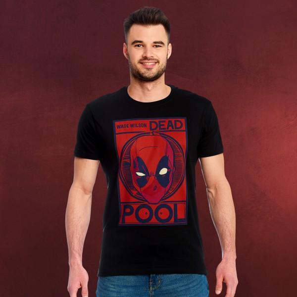 Deadpool - Wade Wilson Poster T-Shirt schwarz