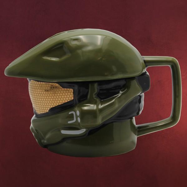 Halo - Master Chief Helm 3D Tasse mit Deckel
