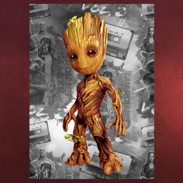 Guardians of the Galaxy - Baby Groot Metall Poster