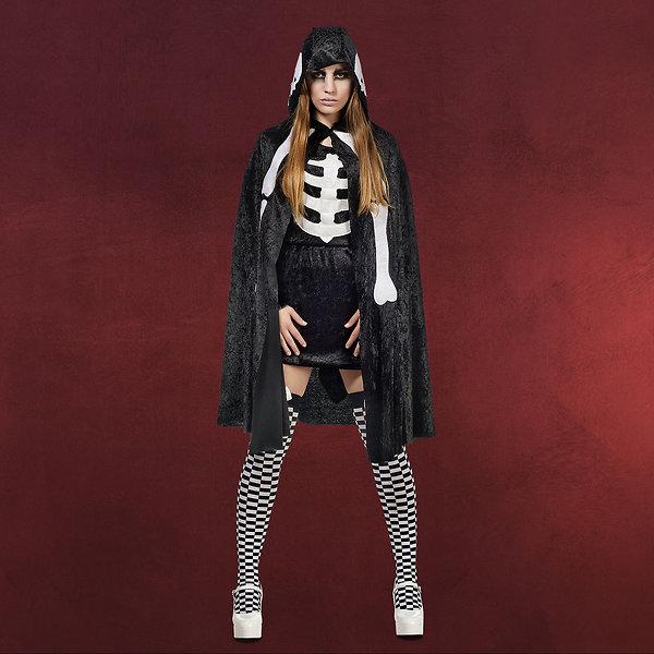 Skelett-Cape - Kostümumhang Damen