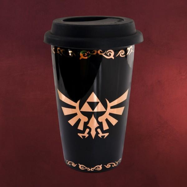 Zelda - Hyrule Logo To Go Becher schwarz