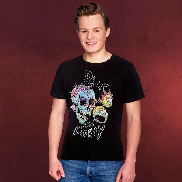 Rick and Morty - Eyeball Skull T-Shirt schwarz