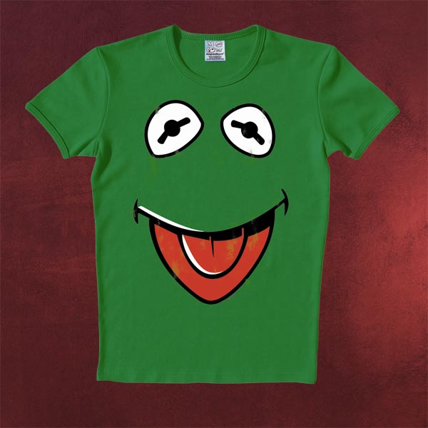Muppets Faces Kermit T-Shirt grün