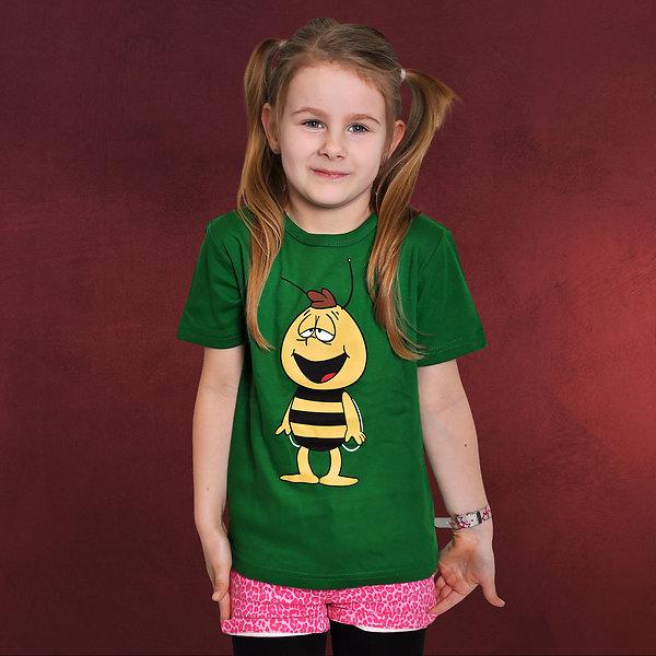 Biene Maja - Willi Kinder T-Shirt grün