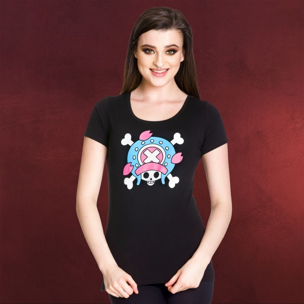 One Piece - Skull Chopper Girlie Shirt schwarz