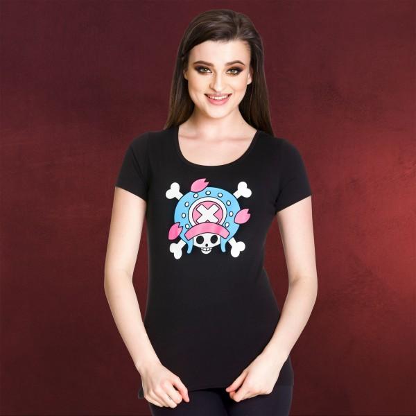 One Piece - Skull Chopper Girlie Shirt schwarz