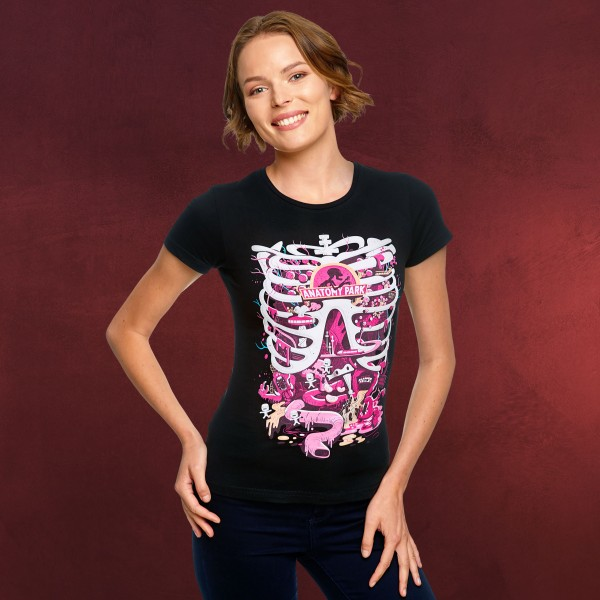 Rick and Morty - Anatomy Park T-Shirt Damen schwarz