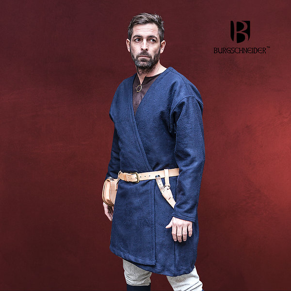 Mittelalter Klappenrock Loki blau