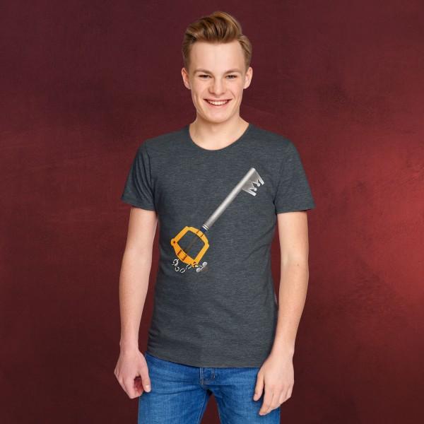 Kingdom Hearts - Schlüsselschwert T-Shirt grau