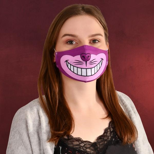 Grinsekatze Gesichtsmaske für Alice im Wunderland Fans pink