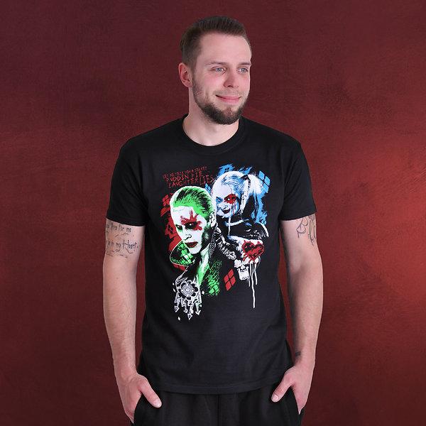 Suicide Squad - Harley Joker T-Shirt schwarz