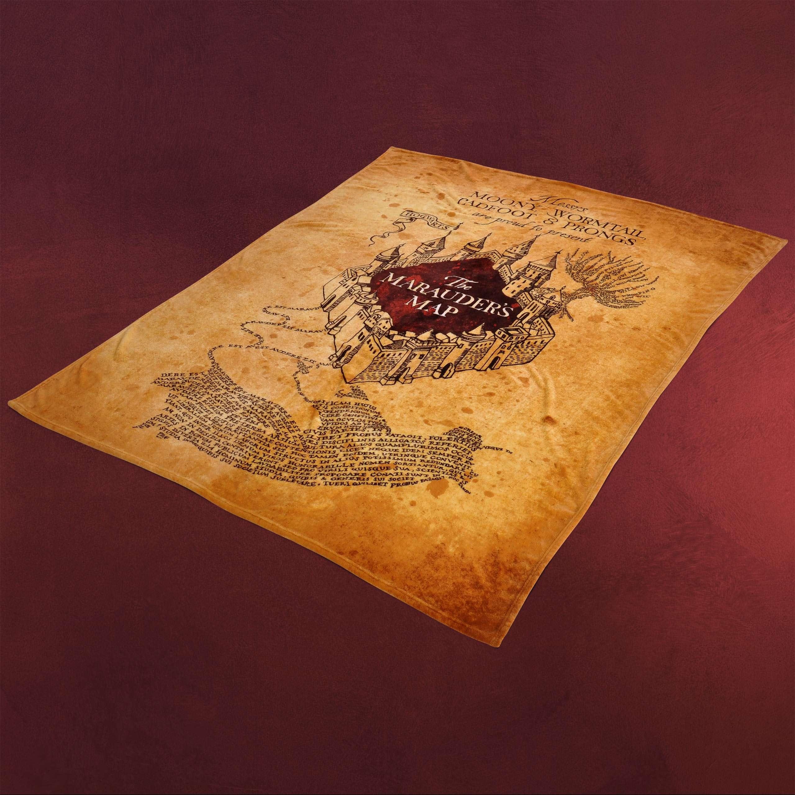Karte Des Rumtreibers.Harry Potter Karte Des Rumtreibers Flauschdecke