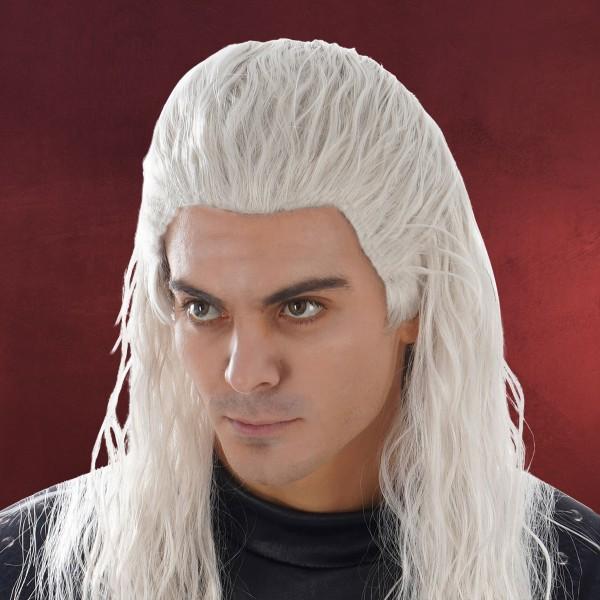 Geralt Kostüm Perücke für Witcher Fans