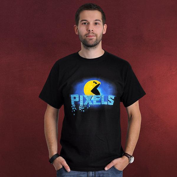 Pac-Man - Pixels T-Shirt schwarz
