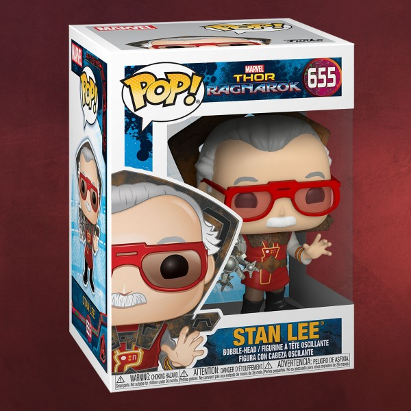 Thor - Stan Lee in Ragnarok Outfit Funko Pop Wackelkopf-Figur