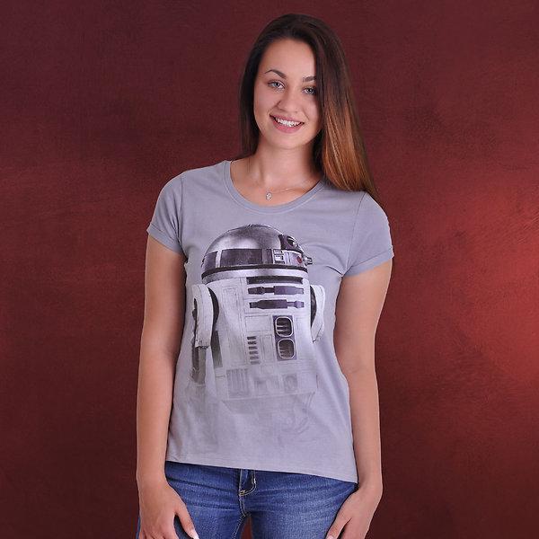 Star Wars - Invisible R2-D2 Girlie Shirt grau