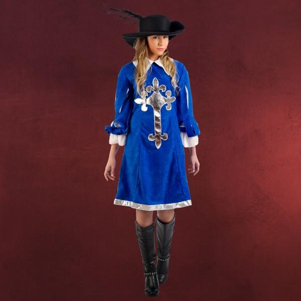 Königliche Musketierlady - Kostüm Damen blau
