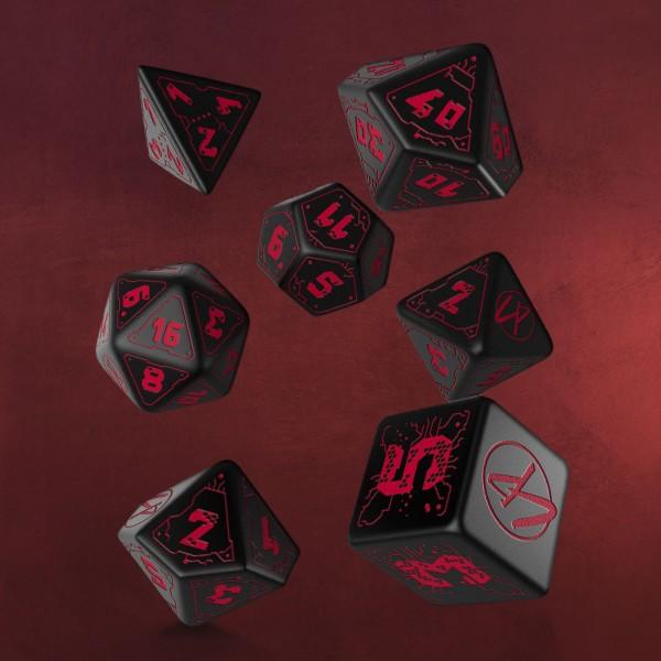 Cyberpunk Red RPG Würfel Set 7tlg schwarz