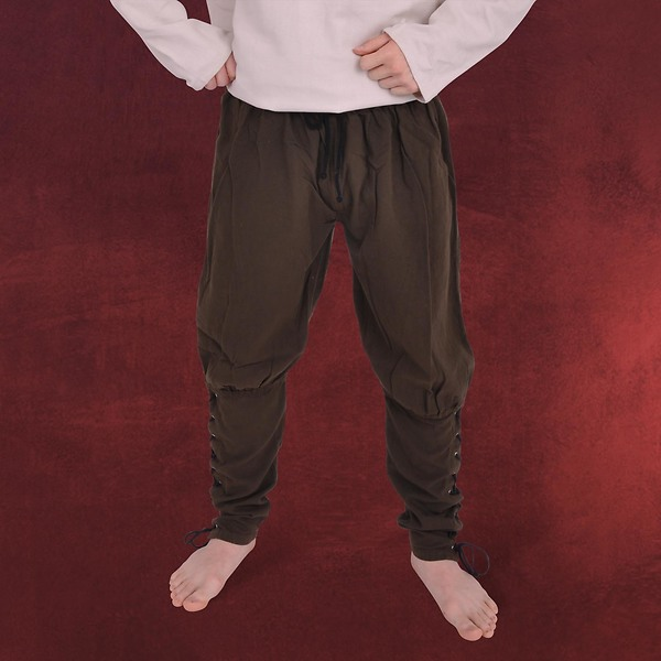 Mittelalterliche Wikingerhose dunkelbraun