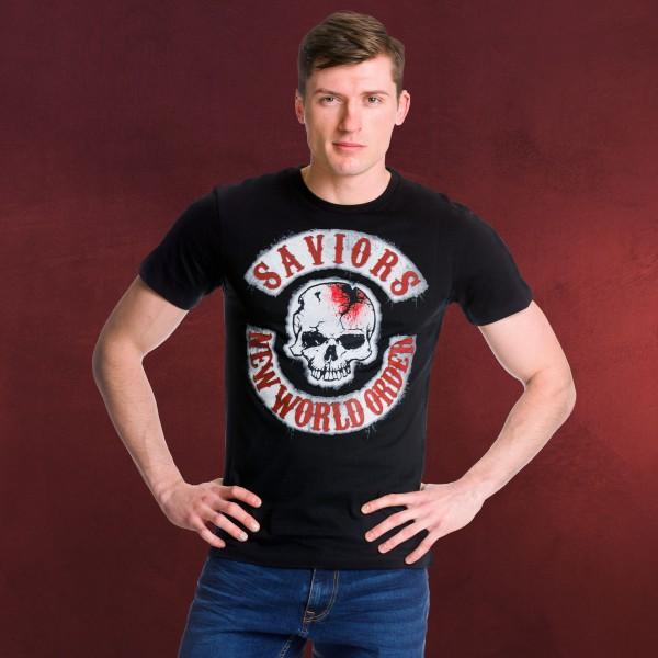 Walking Dead - Savior Patches T-Shirt schwarz