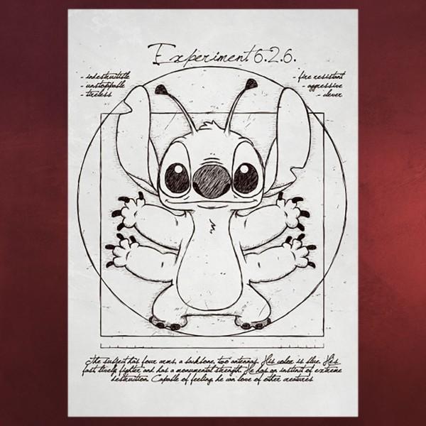 Experiment 626 Metall Poster für Lilo & Stitch Fans