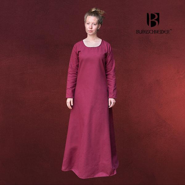 Mittelalter Unterkleid Freya bordeaux
