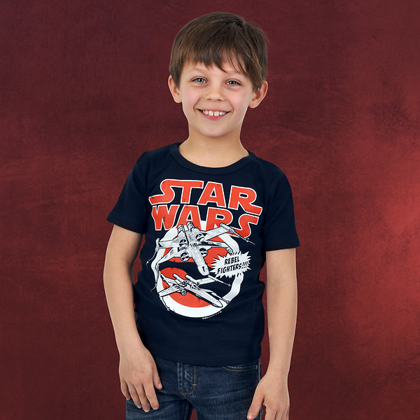 Star Wars - X-Wings Kinder T-Shirt navy